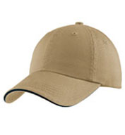 Mens Sandwich Bill Cap with Striped Closure