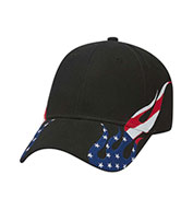 United States Flag Flame Pattern Racing Cap
