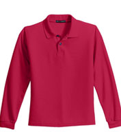 Youth Long Sleeve Silk Touch™ Sport Shirt