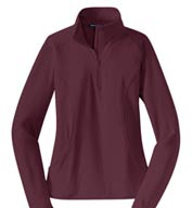 Ladies Sport-Wick® Stretch 1/2-Zip Pullover