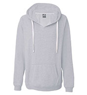 J. America - Ladies' Sydney Brushed V-Neck Hooded Sweatshirt