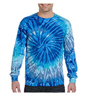 100% Cotton Long-Sleeve Tie-dyed T-shirt