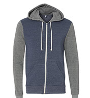 Alternative Apparel Men's Rocky Color-Blocked Full-Zip Hoodie