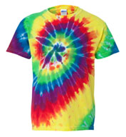 Adult Tie-Dye Neon Pigment-Dyed Spiral Tee
