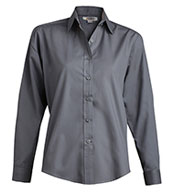Ladies Long Sleeve Broadcloth  Work Shirt