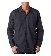Dickies' Men's Long-Sleeve Industrial Poplin Work Shirts