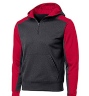 Sport-Tek® - Men's Colorblock Tech Fleece 1/4-Zip Hooded Sweatshirt