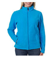 UltraClub Ladies Micro Fleece Full-Zip Jacket