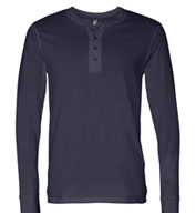 Bella + Canvas Men's Long Sleeve Henley Jersey