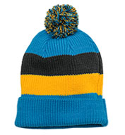 District® Vintage Striped Beanie with Removable Pom