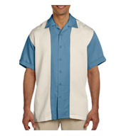 Harriton Men's Two-Tone Bahama Camp Shirt