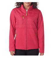 UltraClub Ladies Quilted Fleece Jacket
