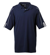 Adidas Golf ClimaLite® Three-Stripe Cuff Polo