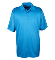 UltraClub Men's Cool and Dry Mini-Check Jacquard Polo