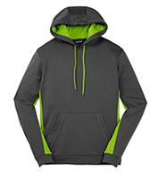 Men's Fleece Colorblock Hooded Pullover