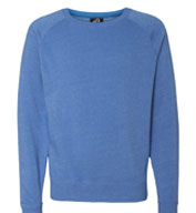 J. America Men's Tri-Blend Fleece Crew