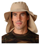 Extreme Vacationer Bucket Cap with Neck Cape