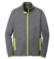 Men's Sport-Tek Stretch Contrast Full-Zip Jacket
