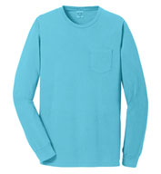 Essential Pigment-Dyed Adult Long Sleeve Pocket Tee