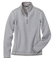 Ladies 'Janica' Waffle Knit 1/4-Zip Pullover