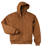 Duck Cloth Hooded Adult Work Jacket in Tall Sizes