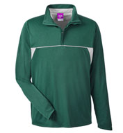 Men's Excel Melange Interlock Performane Quarter-Zip Top