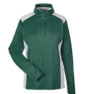 Ladies' Excel Melange Interlock  Performance Quarter-Zip Top