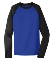 Sport-Tek® Raglan Colorblock Men's Fleece Crewneck