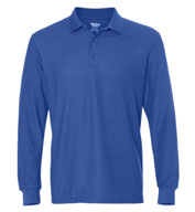 Gildan DryBlend Double Pique Long Sleeve Adult Sport Shirt
