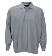 Vansport™ Omega Men's Long Sleeve Solid Mesh Tech Polo