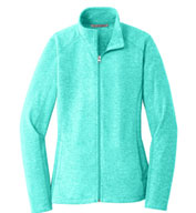 Ladies Heather Microfleece Full Zip Jacket