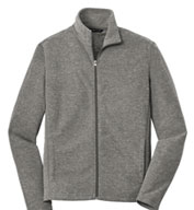 Men's  Heather Microfleece Full Zip Jacket