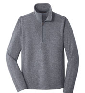 Men's Heather Microfleece 1/2 Zip Jacket