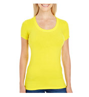 Threadfast Apparel Ladies' Spandex Short-Sleeve Scoop Neck T-Shirt