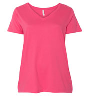 LAT - Curvy Collection Women's V-Neck Tee