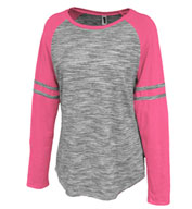 Women's Space-Dye Striped Crew