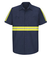 Red Kap Men's Enhanced Visibility Industrial Work Shirt