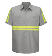 Red Kap Men's Enhanced Visibility S/S Cotton Work Shirt