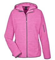 Ladies Perfect Fit™ Mélange Velvet Fleece Hooded Full-Zip  Jacket