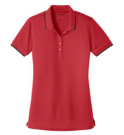 Port Authority Ladies' Dry Zone UV Micro-Mesh Tipped Polo