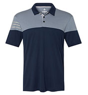 Adidas Golf 3-Stripes Heather Block Men's Polo
