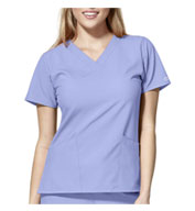 WonderWink® W123 Women's Basic V-neck Top
