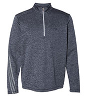 Adidas Men's Brushed Terry Heather 1/4 Zip Pullover